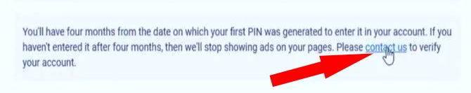 adsense address verification verycontact us