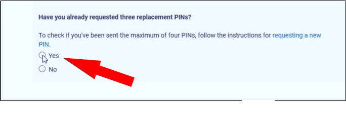 have you already requested three replacement pin