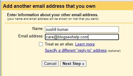 gmail setings for business email