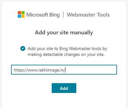 bing add your site manually