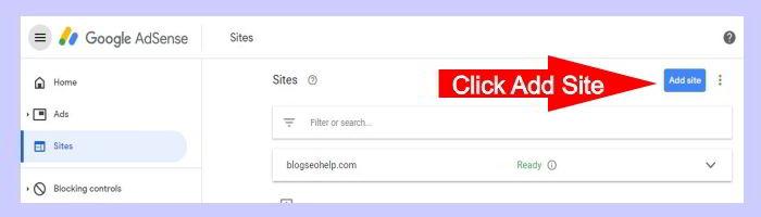adsense add site