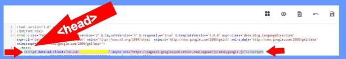Adsense Auto ads Code Blogger में डालना
