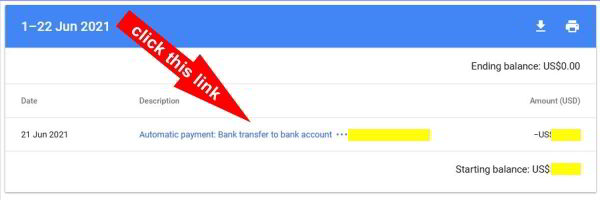 automatic payment bank transfer to bank account