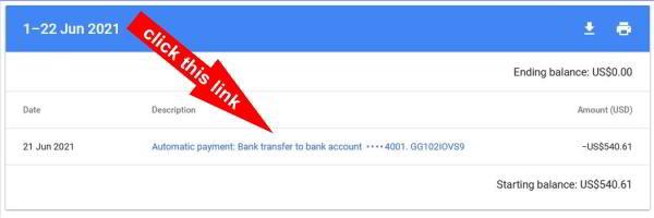 बैंक खाते में स्वचालित भुगतान बैंक हस्तांतरण