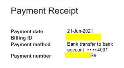 payment date and number