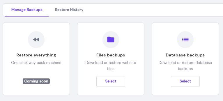 clicl select backup