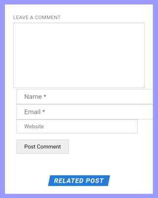 website url field